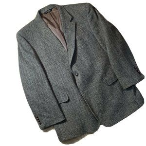 Jos A Bank Harris Tweed Blazer Brown 48R